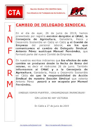 CAMBIO DE DELEGADO SINDICAL
