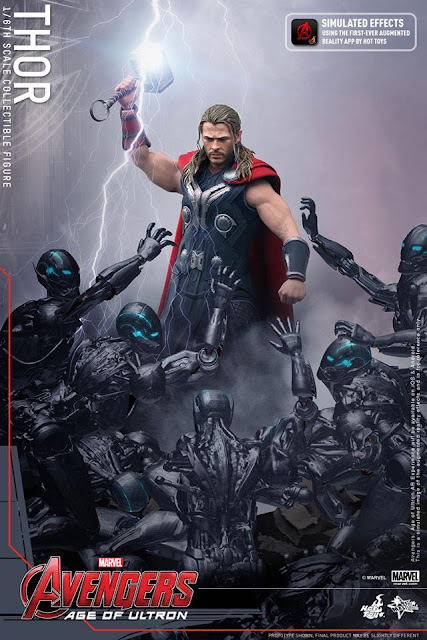 Hot Toys Action Figure App Thor Avengers Age of Ultron