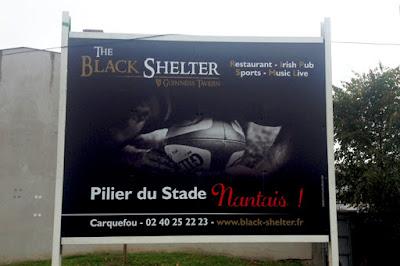 Panneau publicitaire 4x3 (12m2), Stade Nantais Rugby Nantes.