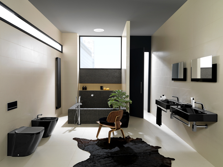 black is back with the essencec bathroom collection by noken