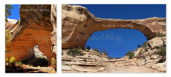 Kachina and Owachomo Bridges in Natural Bridges National Monument Utah