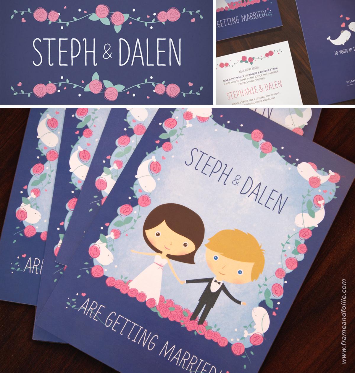 Illustrative wedding invites