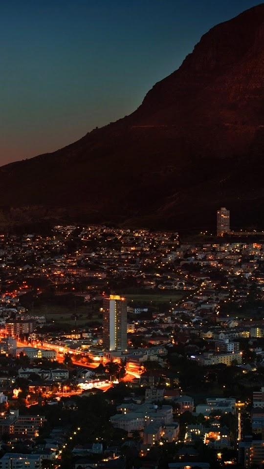 Hillside Town Under the Evening   Galaxy Note HD Wallpaper