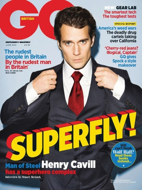 Henry Cavill on the Cover of British GQ June 2013