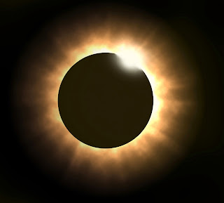 In Total solar eclipse we can not see the Sun copletely .