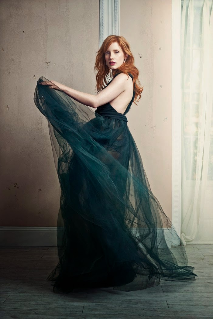 Jessica Chastain - Valentino Couture gown.