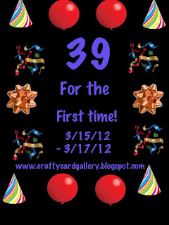 39 For The First Time Blog Hop!