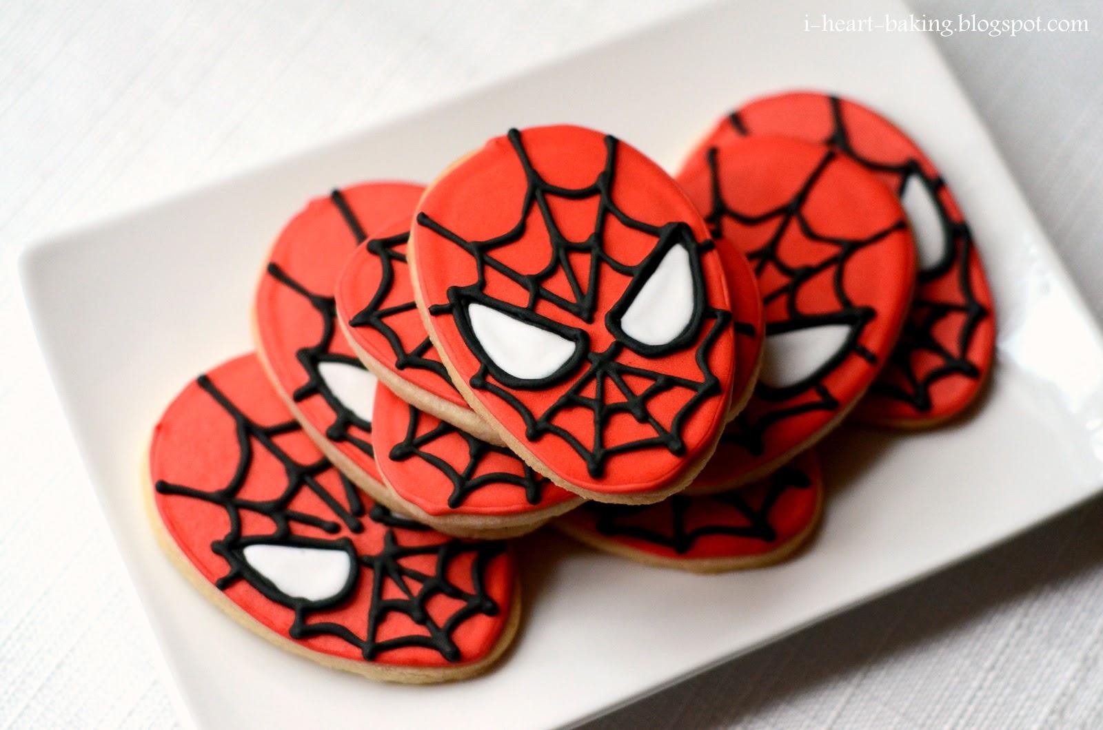 I Heart Baking Spiderman Cookies