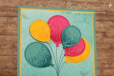 Stampin' Up! Partyballons Luftballons Designerpapier Kunstvoll Kreiert Sale-A-Bration 2016 SAB Wink of Stella Glitter Glitzer Pinsel