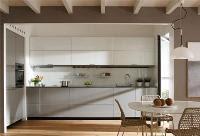 en esta cocina de color blanco podrs apreciar cajones muy amplios lo que permite que puedas almacenar utensilios y productos comestibles con mxima
