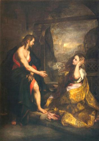 SANTA MARIA MAGDALENA CON JESUS RESUCITADO