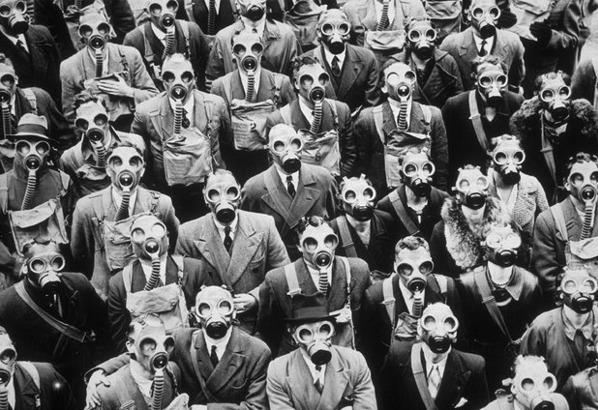 máscara de gas de la Segunda Guerra Mundial es muy peligroso