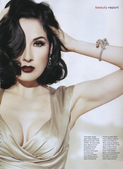 Christina's Beauty Mark: Dita Von Teese to Launch New Makeup Line with ... Dita