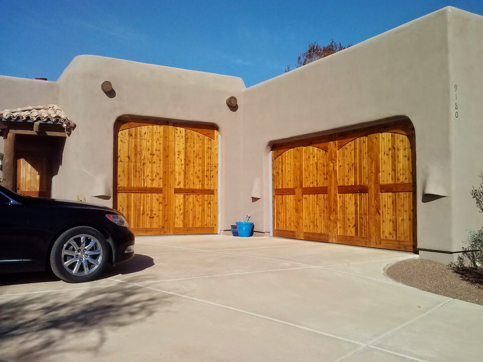 doors best cedar faux garage wooden wood tucson door photos repair