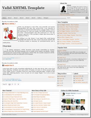 Template Valid XHTML,Template Valid XHTML 5