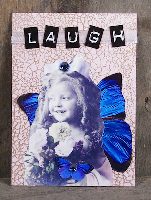 Laugh Fairy ATC Altered Art