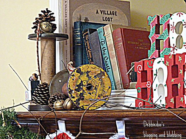 mantt Christmas mantel {rustic, whimsy}