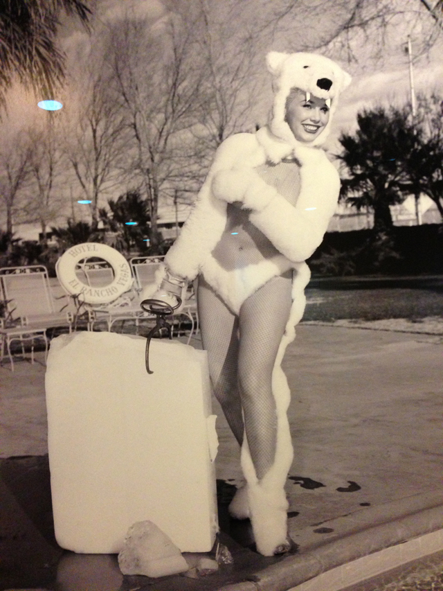 Vintage Las Vegas Polar Bear Girl