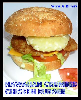 Hawaiian Crumbed Chicken Burger