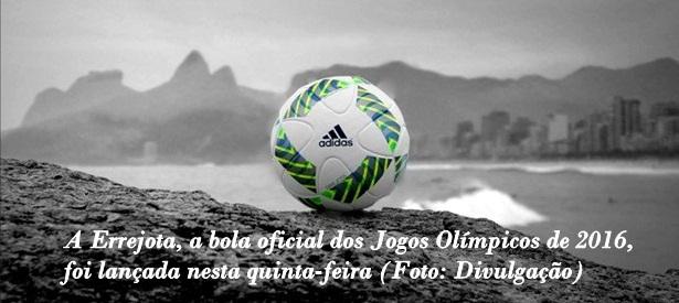 Foi revelada nesta quinta-feira a bola oficial de futebol dos Jogos  Olímpicos do Rio de Janeiro. Inspirada no cotidiano carioca e4540e9213714