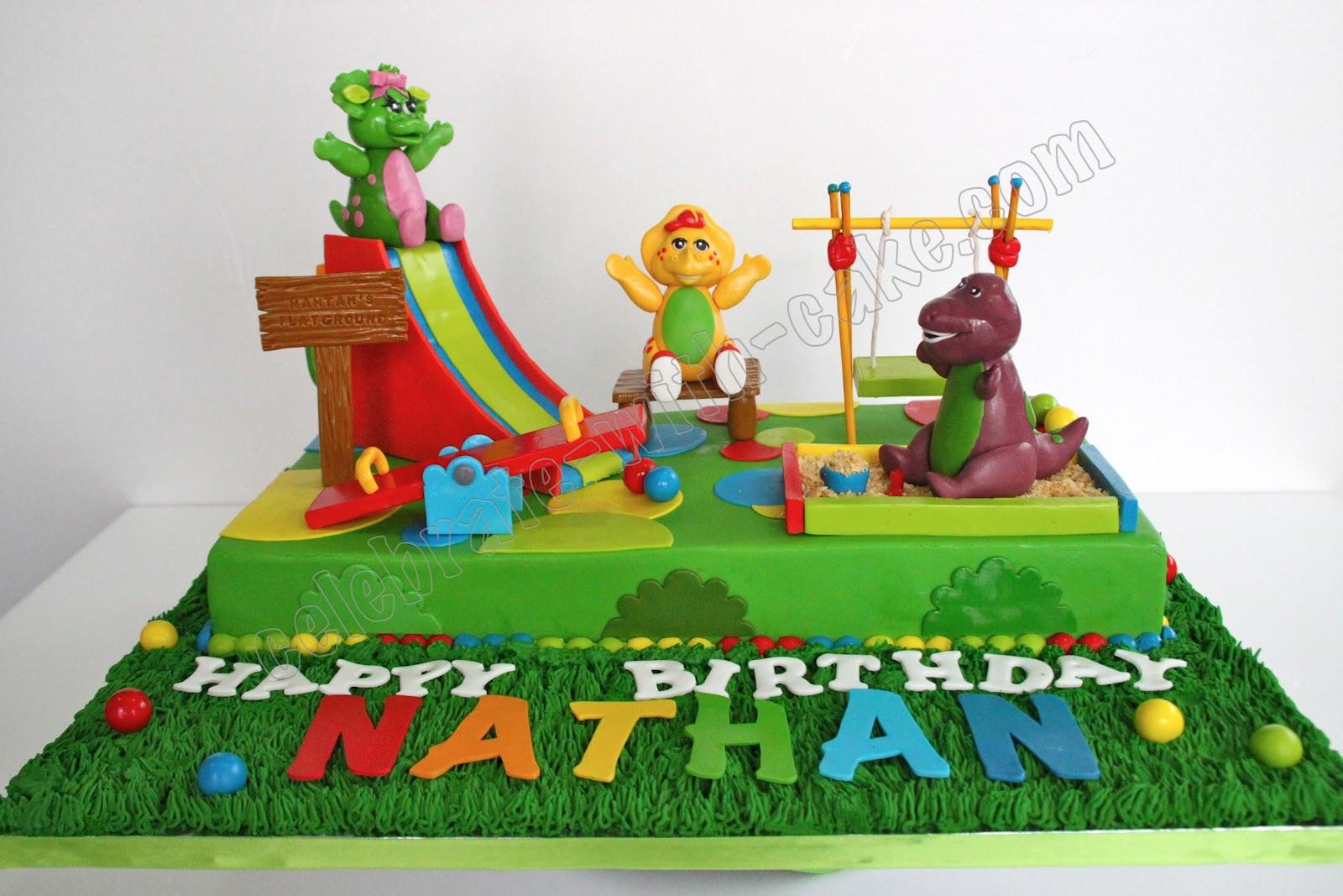 Celebrate With Cake Barney Playground Cake