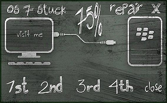 Blackberry Solution for Error 75%.