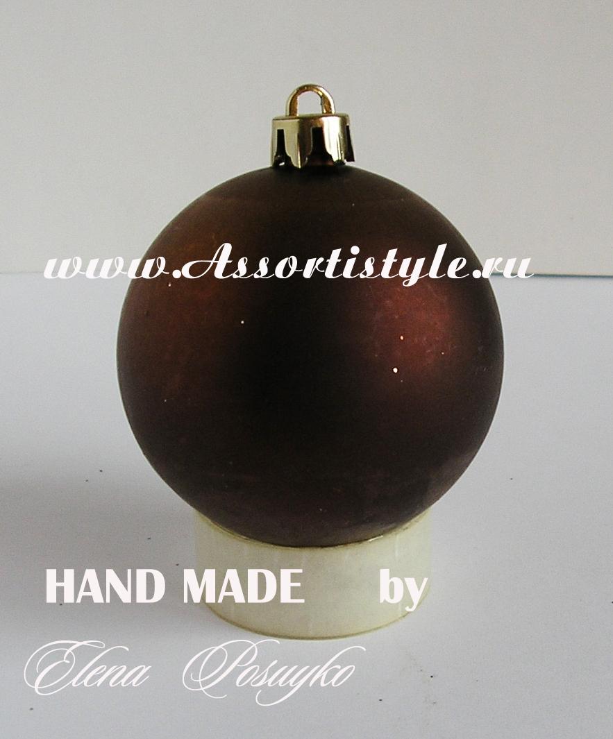 Узор новогоднего шарика