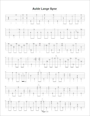 Devons Banjo Homeplace Auld Lang Syne Transcribed