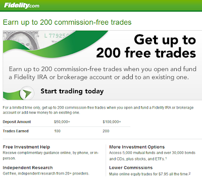 Fidelity 200 Commission-Free Trades
