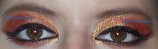 Gryffindor eye make up