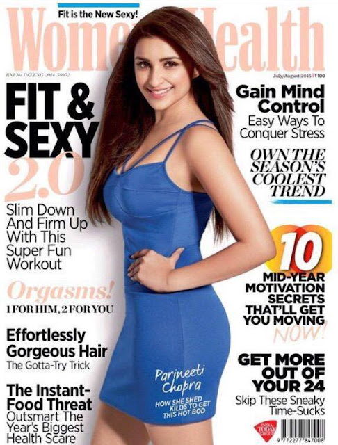 Parineeti Chopra on coverpage  of women's health magazine