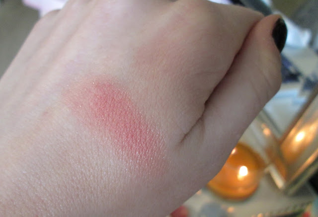 Close up swatch of Becca Beach Tint Shimmer Soufle in Watermelon/Moonstone
