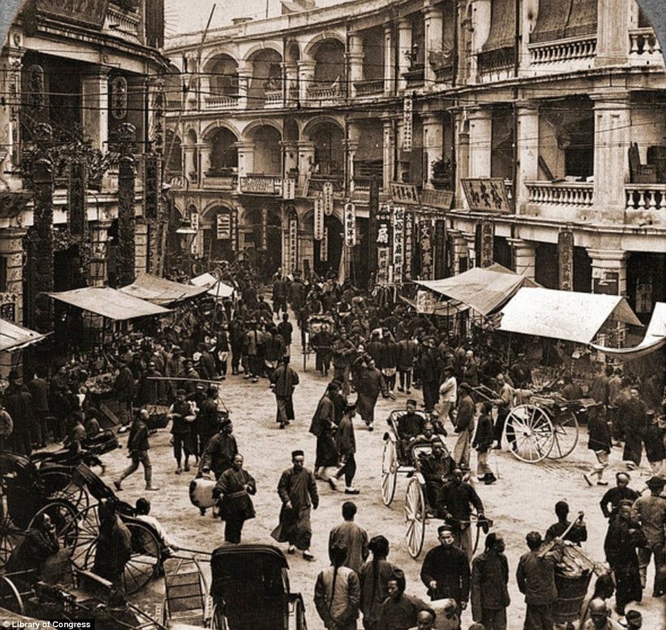 Queen´s Road en el nuevo año chino de 1902