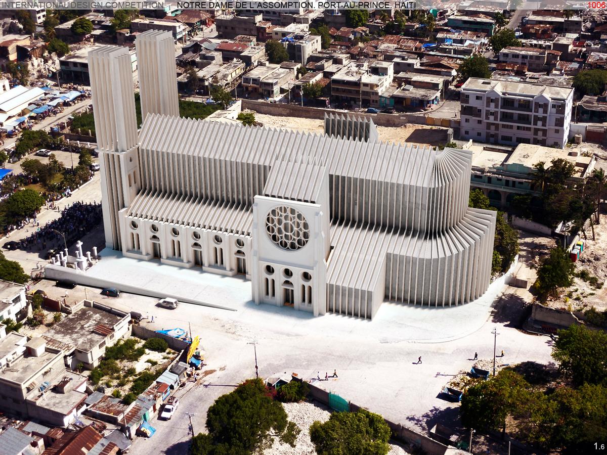 Portrait La Cathedrale De Port Au Prince Haiti Romansh