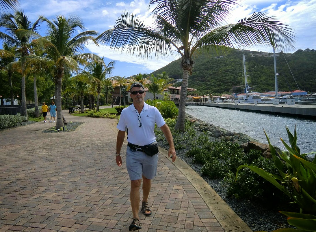 Walking from the cruise ship to Charlotte Amalie, V.I.