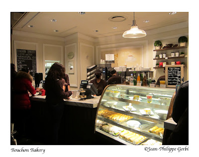 Image of Entrance of Bouchon Bakery at Columbus Circle Time Warner Building in NYC, New York