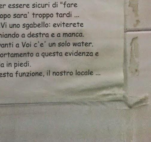 Fantastico cartello in una toilette da oscar clicca la foto