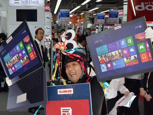Windows 8 first-day sales around the world