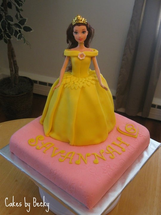 Cakes by Becky: Princess Belle Birthday Cake