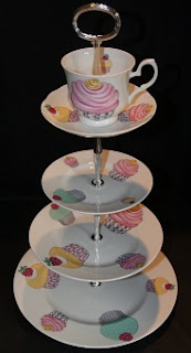 Cake Stand with Cup and Saucer