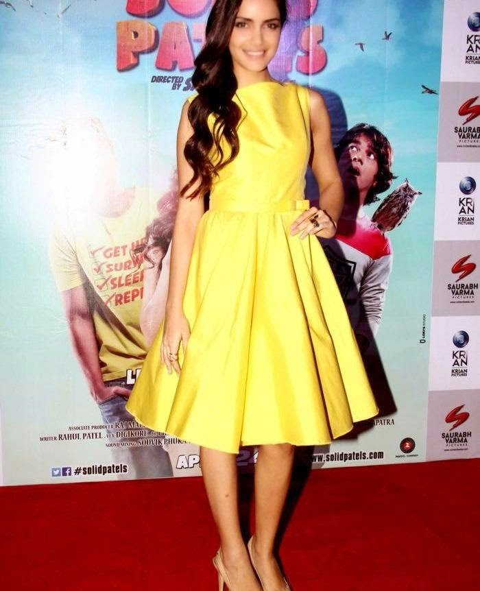 Shazahn Padamsee Stills At Solid Patels Movie Trailer Launch
