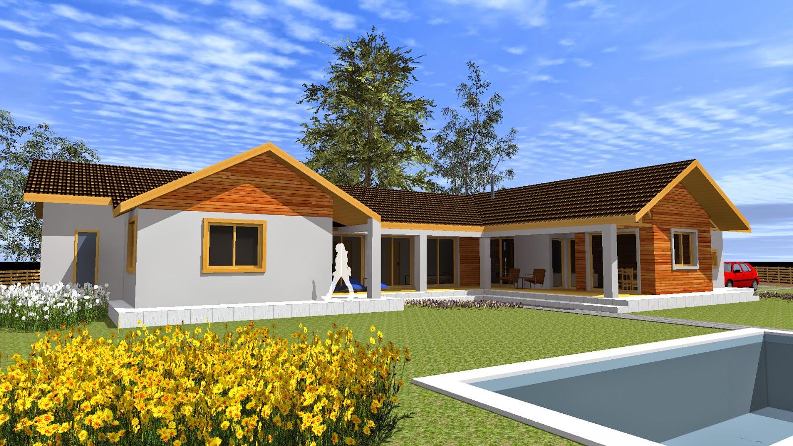 Casa de campo 200 m2 arquitecto cristian estrada massera rancagua pichilemu machali olivar - Casas de campo embargadas en lorca ...