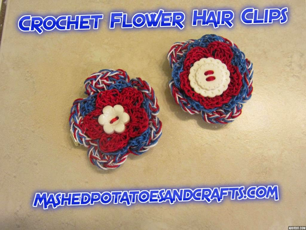 Mashed Potatoes and Crafts: Laurel\'s Sweet Five-Petal Crochet Flower ...