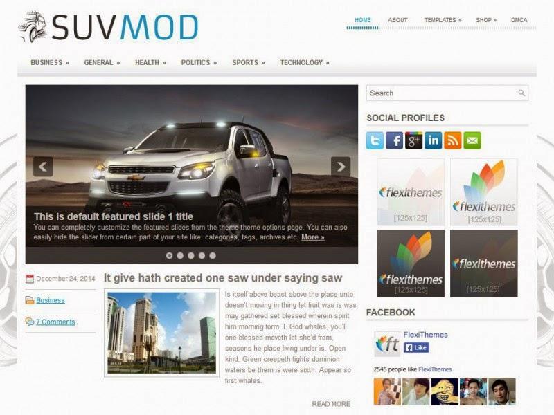 SuvMod - Free Wordpress Theme