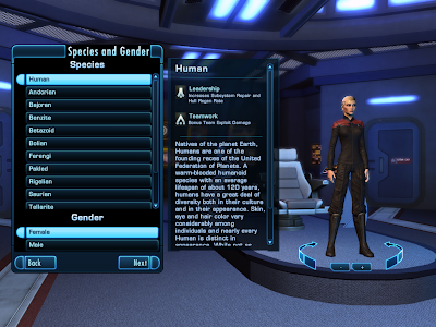 Star Trek Online - Species and Gender