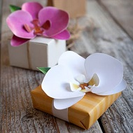 DIY Decorar regalos orquidea