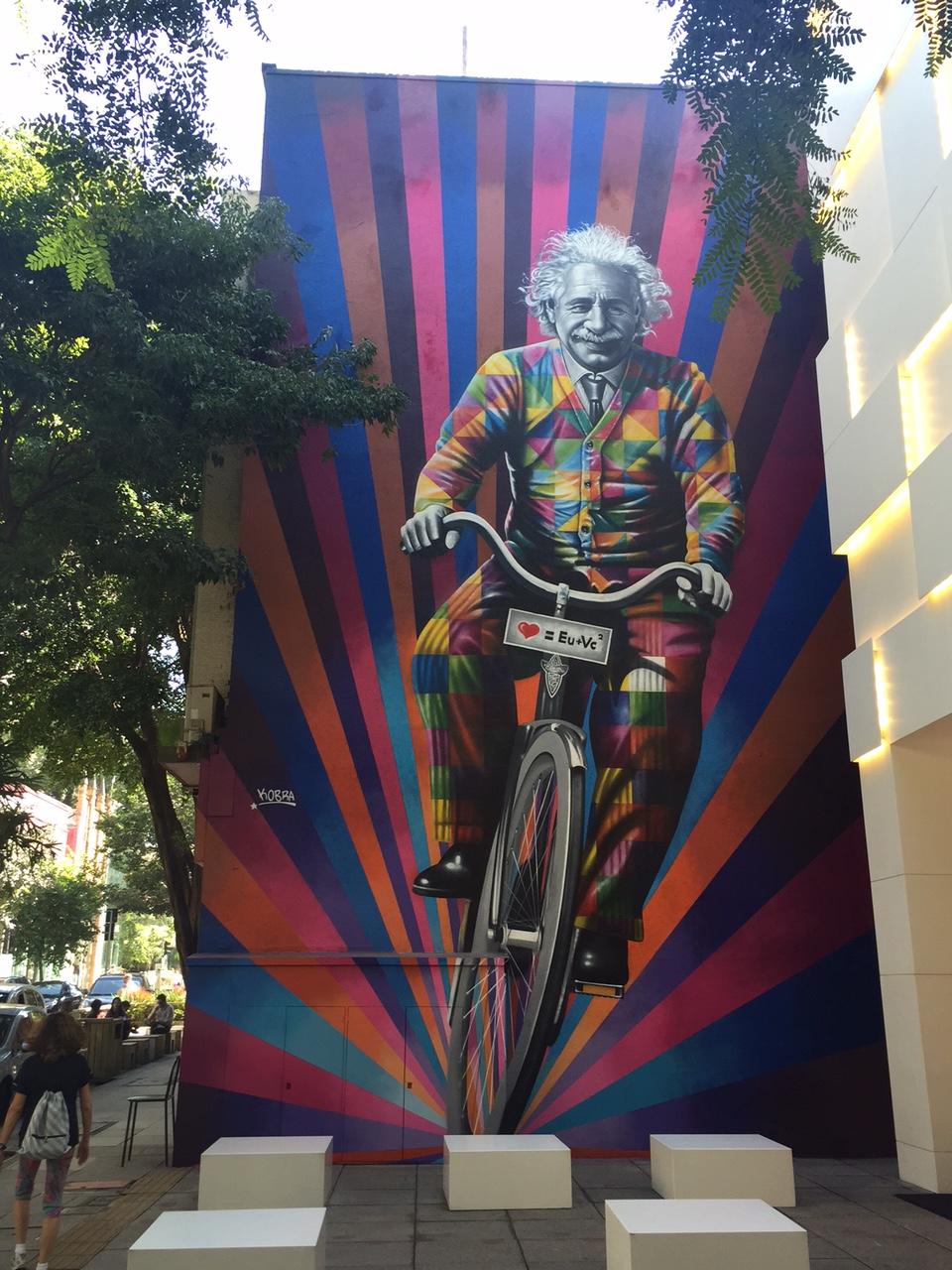 Edoardo Kobra Paints A New Mural In Sao Paulo Brazil