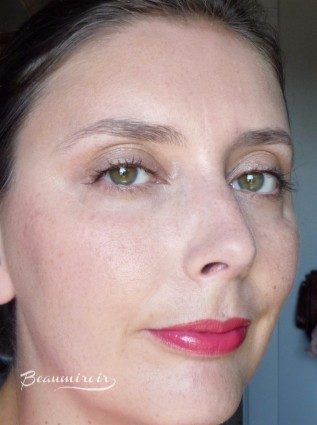 Lancôme Shine Lover Lipstick in Corail Lover (140) swatch full face