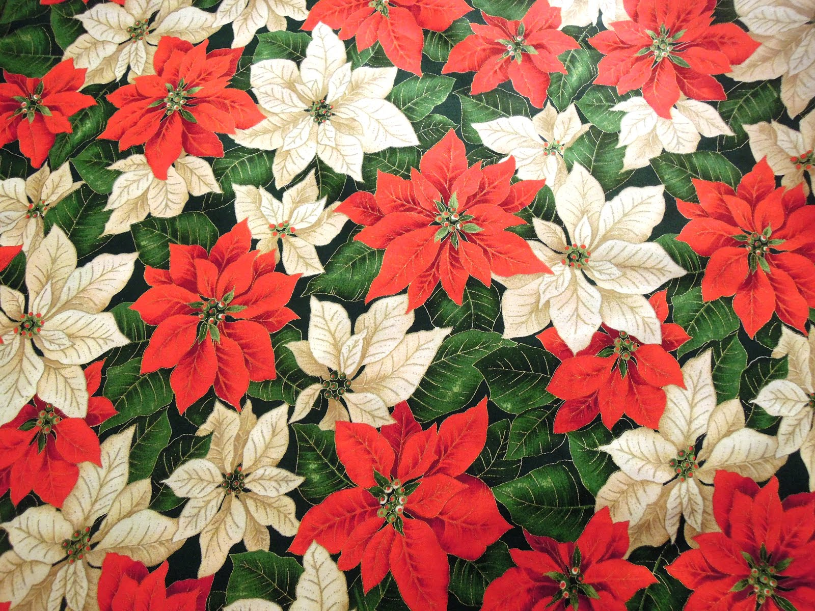2 yds Poinsettia fabric... only $6.99!