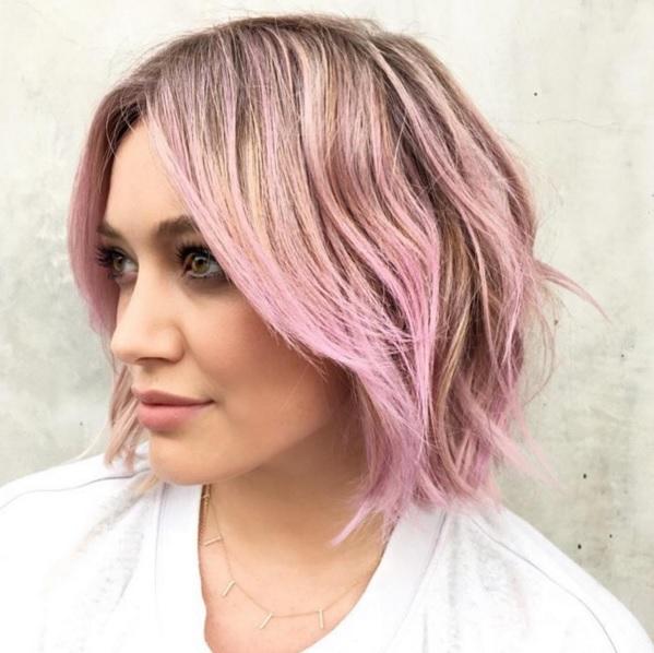 Hillary Duff Pink Hair